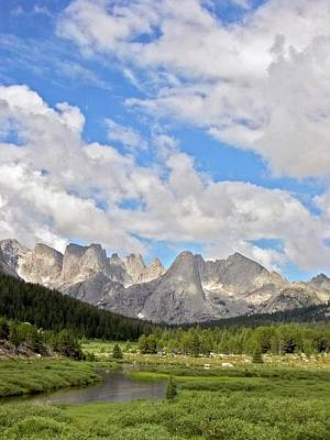 Shoshone Photograph - Wind River Mountains by Jim West