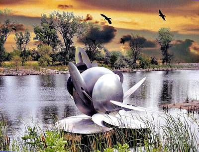 Photograph - Wind Sculpture By George Baker by Janette Boyd