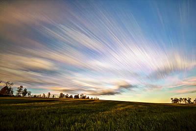 Field. Cloud Digital Art - Wind Stream Streaks by Matt Molloy