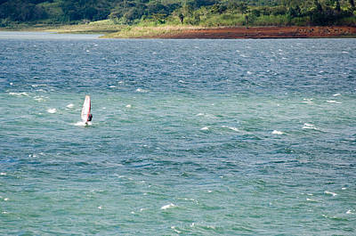 Arenal Photograph - Wind Surfer In A Lake, Arenal Lake by Panoramic Images