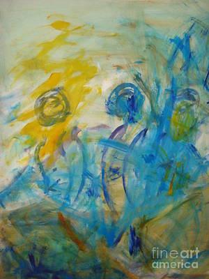 Painting - Wind Surfers by Fereshteh Stoecklein
