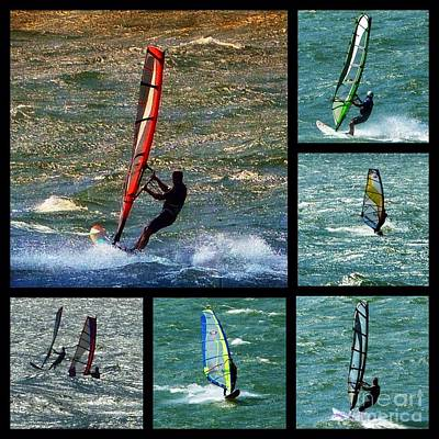 Photograph - Wind Surfing Collage  by Susan Garren