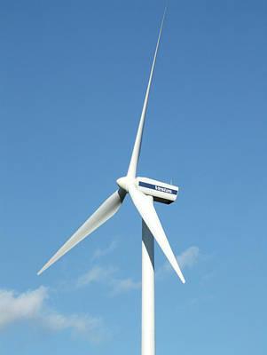 Wind Turbine Art Print by Alex Bartel