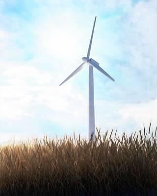 Wind Turbine Art Print by Andrzej Wojcicki