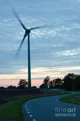 Photograph - Wind Turbine At Winding Road  by Kennerth and Birgitta Kullman