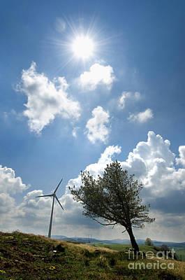 Wind Turbine  Art Print by Bernard Jaubert