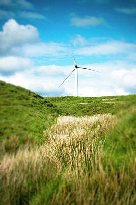 Green Power Photograph - Wind Turbine by Dan Dunkley