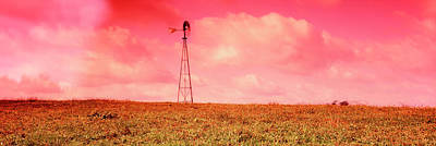 Wind Turbine In A Field, Amish Country Art Print by Panoramic Images