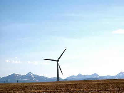 Wind Turbine Art Print by Mavis Reid Nugent
