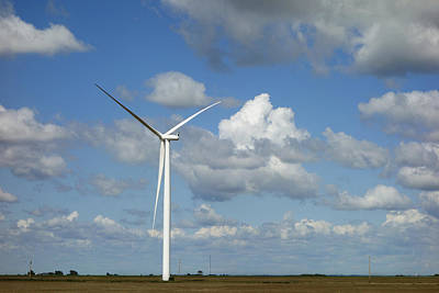 Photograph - Wind Turbine On The Prairie  by Ann Powell