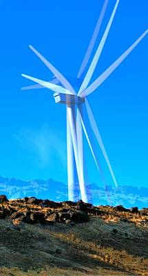 Jerry Sodorff Royalty-Free and Rights-Managed Images - Wind Turbines 16759 by Jerry Sodorff