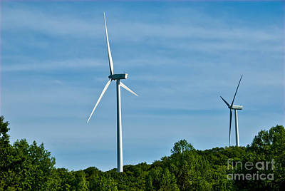 Green Energy Photograph - Wind Turbines by Amy Cicconi