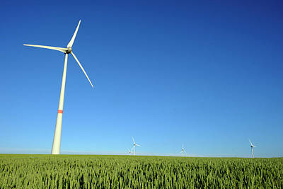Agricultural Industry Wall Art - Photograph - Wind Turbines And Cereal Crop by Jmquinet/reporters/science Photo Library