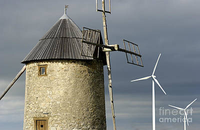 Preservation Photograph - Wind Turbines And Windfarm by Bernard Jaubert