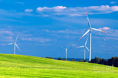 Environmental Photograph - Wind Turbines Landscape by Michal Bednarek