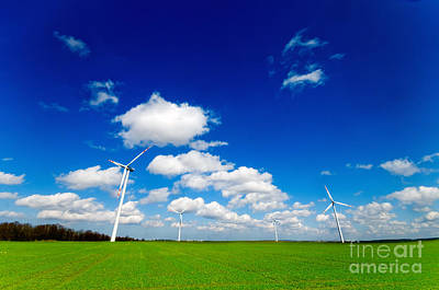 Land Photograph - Wind Turbines by Michal Bednarek