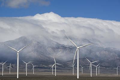 Photograph - Wind Turbines Schell Creek Range Nevada by Kevin Schafer