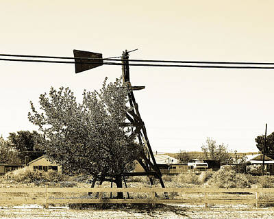 Wind Vane In Boron California Print by Charlette Miller