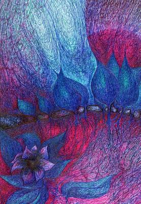 Primitive Drawing - Wind by Wojtek Kowalski