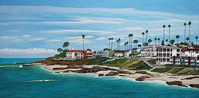 La Jolla Art Painting - Windansea Beach by Robert Bradshaw