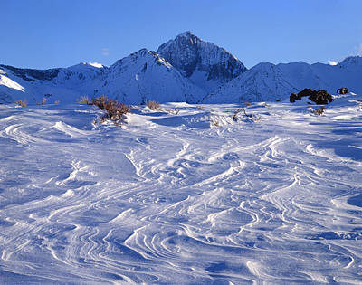 Photograph - 3m6394-windblown Snow And Mt. Morrison  by Ed  Cooper Photography