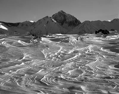 Photograph - 3m6394-h-bw-mt Morrison,snow by Ed  Cooper Photography