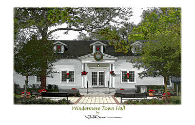 Windermere Town Hall Art Print