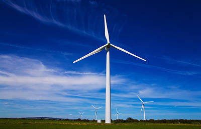 Bridgetown Photograph - Windfarm, Bridgetown, County Wexford by Panoramic Images