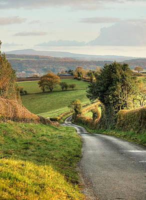 Photograph - Winding English Country Lane by Sarah Broadmeadow-Thomas
