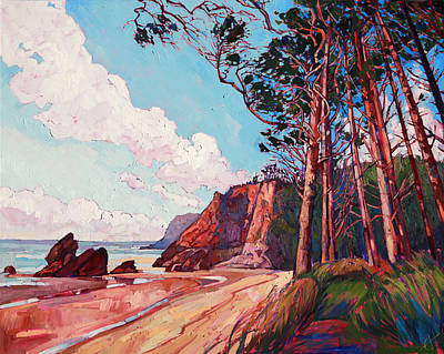 Winding Pines Print by Erin Hanson