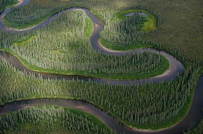 Winding River In The Arctic Art Print