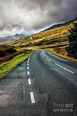 Llynnau Mymbyr Photograph - Winding Road by Adrian Evans