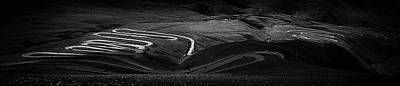 Himalaya Photograph - Winding Road In Tibet In Black And White by Kim Pin Tan