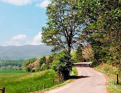 Photograph - Winding Road On Summer Day In Cades Cove Smoky Mountain Nation by Sherry  Curry