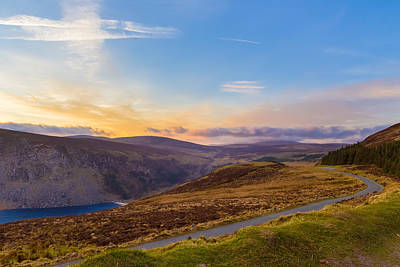 Photograph - Winding Road Towards Sally Gap At Sunset by Semmick Photo