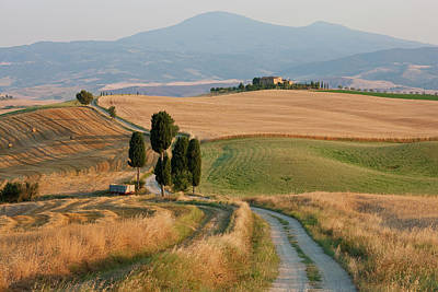 Bale Photograph - Winding Road, Val D' Orica, Tuscany by Peter Adams