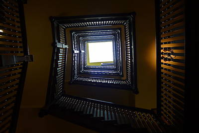 Photograph - Winding Stairwell by Denise Mazzocco