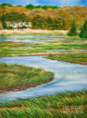 Winding Waters - Cape Salt Marsh Art Print by Michelle Wiarda