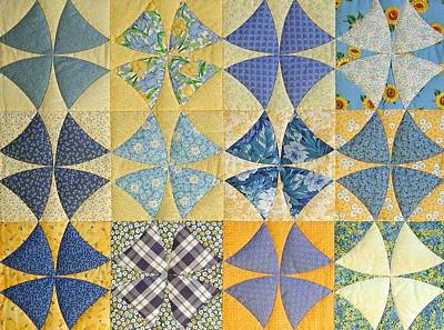 Hand Quilted Photograph - Winding Ways Of Summer By Linda Aliotta by Linda Aliotta