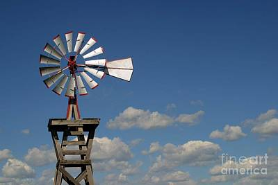 Windmill-5764b Art Print by Gary Gingrich Galleries