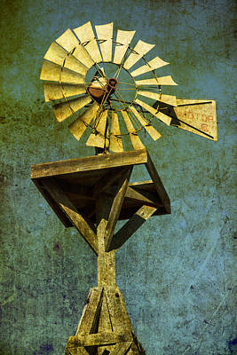 Windmill Abstract Art Print by Garry Gay