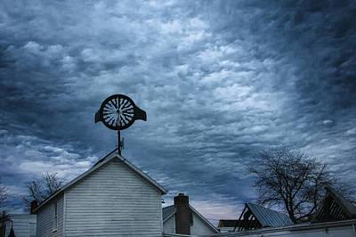 Photograph - Windmill And Nightfall by Steven Mancinelli