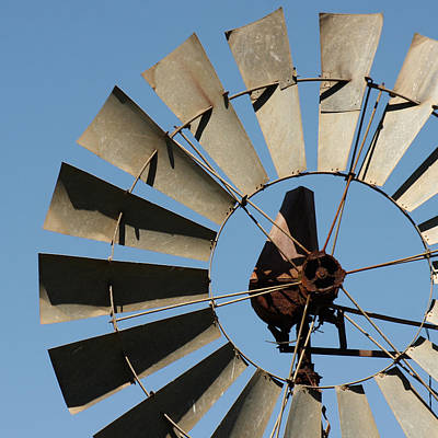 Cambria Photograph - Windmill And The Sky by Art Block Collections
