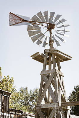 Photograph - Windmill Antique In Color 3005.02 by M K Miller