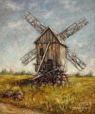 Painting - Windmill by Arturas Slapsys