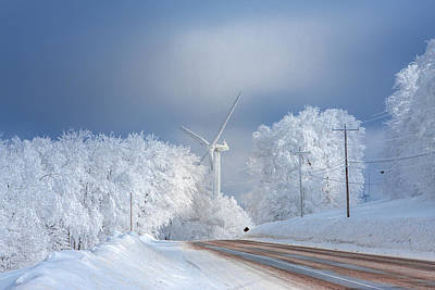 Photograph - Windmill At Backbone Mountain by Mary Almond