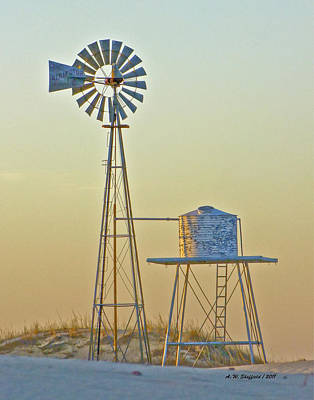 Photograph - Windmill At Dawn 2011 by Allen Sheffield