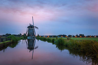 Photograph - Windmill At Dawn by Brian Grzelewski