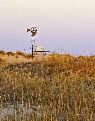 Windmill At Dusk 2011 Art Print