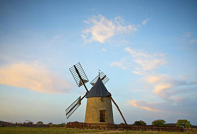Windmill At St Pierre De La Fage Art Print by Panoramic Images
